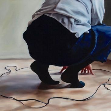 Finding origin 73 x 63 cm Oil on canvas 2018