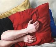 Keep close (hands) 60 x 50 cm Oil on canvas 2018