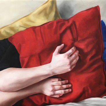 Keep close (hands) 60 x 50 cm Oil on canvas 2018