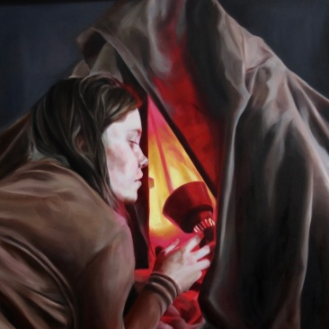 Childhood memory (girl) 93 x 73 cm Oil on canvas 2017
