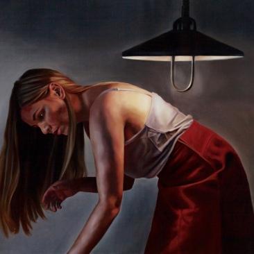 Bedroom light 110 x 100 cm Oil on canvas 2018