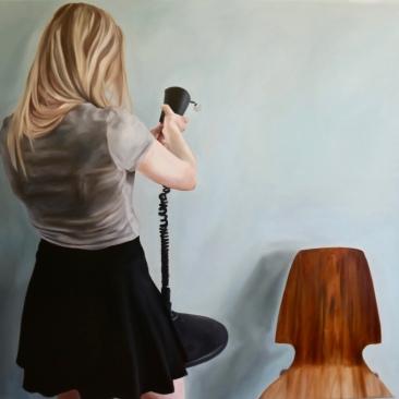 Little blue room 120 x 90 cm Oil on canvas 2017
