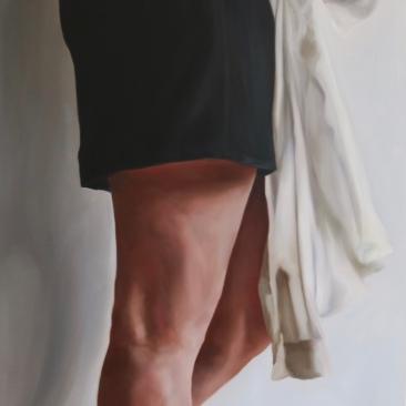 The polite girl 70 x 50 cm Oil on canvas 2017