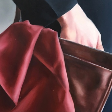 Thief 40 x 30 cm Oil on canvas 2018
