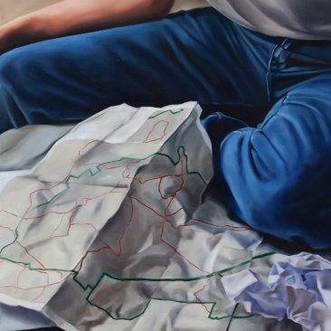 Map reader 50 x 60 cm Oil on canvas 2018