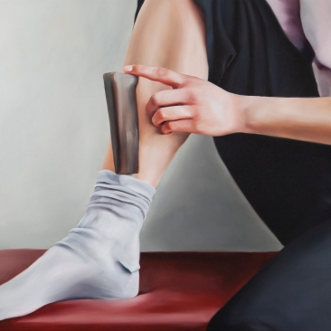 Things to carry with (knife) 60 x 45 cm Oil on canvas 2018
