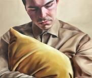 Keep close (pillow) 70 x 60 cm Oil on canvas 2018