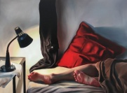 Bedside light 100 x 75 cm Oil on canvas 2018