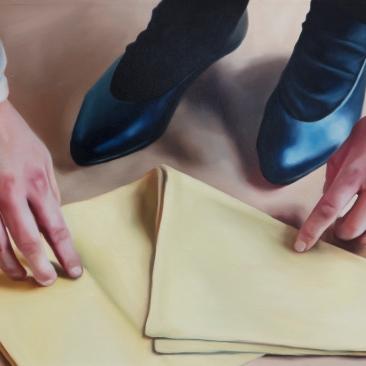 Folds 46 x 36cm Oil on canvas 2019