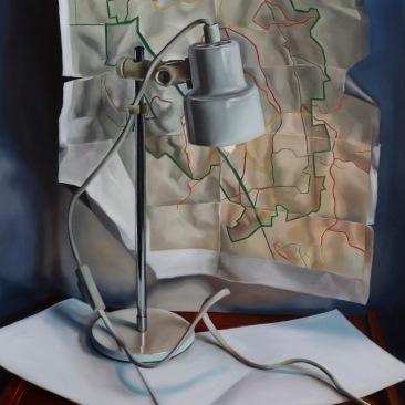 Traveler's desk 51 x 61 cm Oil on canvas 2019