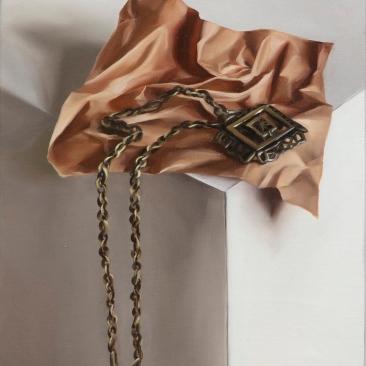 Memorabilia (necklace), 20 x 25 cm, oil on canvas, 2020