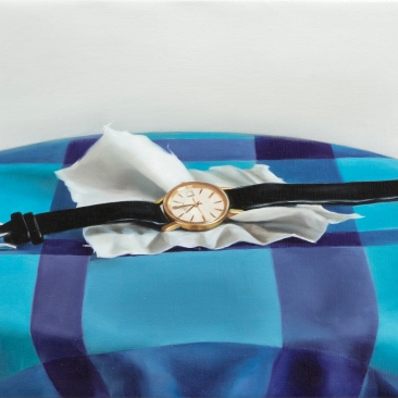 Memorabilia (watch), 25 x 20 cm, oil on canvas, 2020