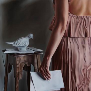 Secret message, 61 x 76 cm, oil on canvas 2019