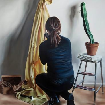 Treasure seeker 130 x 160 cm Oil on canvas 2019